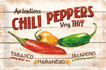 Blechschild 20 x 30 Chili Peppers