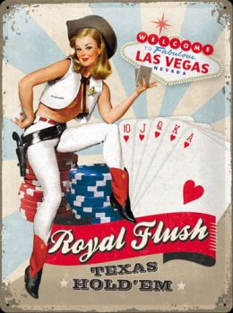 Blechschild 30 x 40 Royal Flush