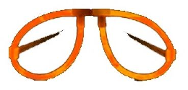 Knicklicht Brille Orange