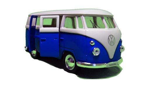metall modellauto vw bulli t1 blau spassartikelshop. Black Bedroom Furniture Sets. Home Design Ideas