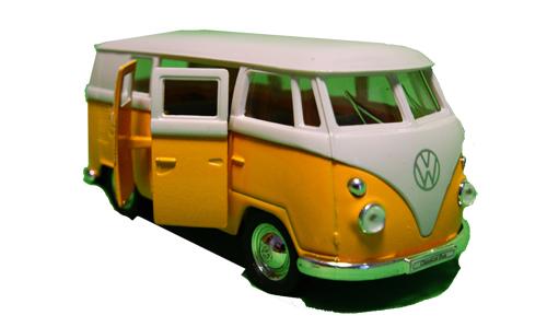 metall modellauto vw bulli t1 gelb spassartikelshop. Black Bedroom Furniture Sets. Home Design Ideas